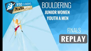 IFSC Youth World Championships - Arco 2019 - BOULDER - Finals - Junior Women - Youth A Men