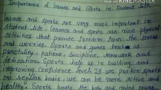 How to write paragraph on importance of games and sports on student life