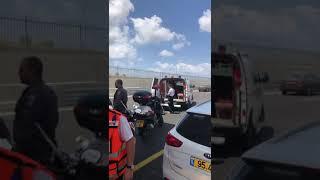 גבר נפל מגשר על כביש 531   צילום: איחוד הצלה