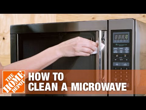 how to clean a microwave the home depot