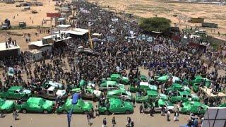Manifestation lors des funérailles d'enfants tués dans un raid