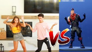 FORTNITE DANCE CHALLENGE WITH SISTER! (IN REAL LIFE)   Brent Rivera
