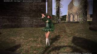 SL - Irish Step 07 - solo dance animation for Second Life (3d game)