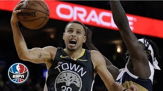 Steph Curry rains for 41 points vs. Pelicans in record-setting Warriors' win | NBA Highlights