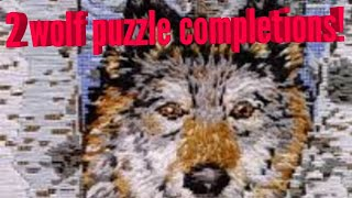 Doing wolf puzzles!