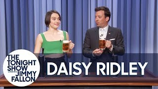 Daisy Ridley Teaches Jimmy How to Pour a Perfect Pint