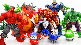 Marvel Super Hero HULK, RED HULK, HULKBUSTER SHOW UP vs GIANT DARKSEID Rescue Dragon SUPER WINGS
