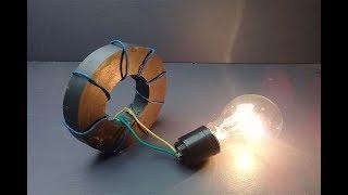 220V light bulb with Speaker Magnets , Free energy 2019