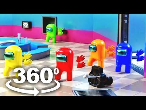 AMONG US 360 - Stickmin is the IMPOSTOR? Distraction Dance Meme