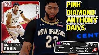 PINK DIAMOND ANTHONY DAVIS GAMEPLAY! 99 OPEN THREE CHEESE! NBA 2k19 MyTEAM