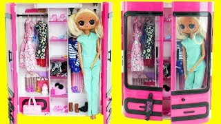 LOL Surprise Dolls Fake Barbies Dress Up in Closet | Toy Egg