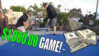 CRAZY $1800 DOLLAR GAME OF MINIATURE GOLF!!