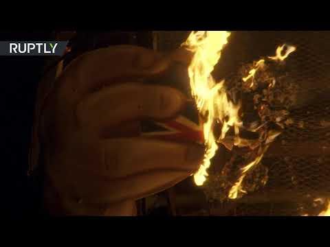 Inferno secretary: BoJo effigy set ablaze at the stake on Bonfire Night