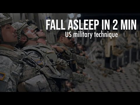 US Military Technique To FALL ASLEEP IN 2 MINUTES Anywhere