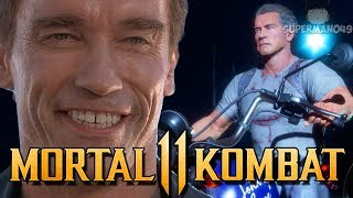 Terminators Infinite Armor Makes Him RAGE QUIT - Mortal Kombat 11: ″Terminator″ Gameplay