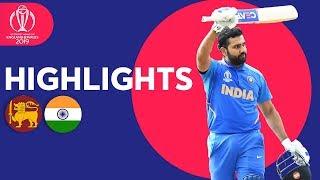Rohit Breaks Centuries Record In Win   Sri Lanka vs India - Highlights   ICC Cricket World Cup 2019