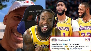 ANTHONY DAVIS TRADED TO THE LAKERS REACTION!!! LAVAR BALL IS SALTY!