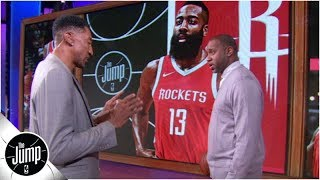 Scottie Pippen demonstrates how he would defend James Harden - and Michael Jordan | The Jump: OT