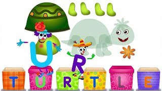 Learn Alphabet for Toddlers Kids Babies with Puzzle Games - T for Turtle