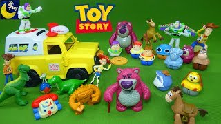 Lots of Toy Story Toys Woody Buzz Lightyear Jessie Imaginext Pizza Planet Truck Lotso Toy