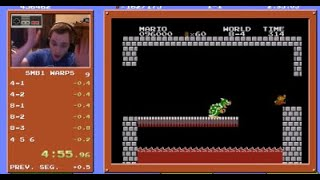 Super Mario Bros. Speedrun in 4:55.913
