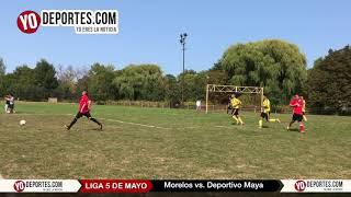 Morelos sorprende al Deportivo Maya Liga 5 de Mayo Soccer