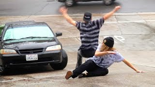HIT BY A CAR!! Most Dangerous Road In U.S. (World Record Foot Slide)