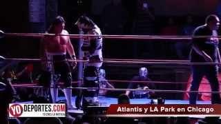 La Parka y Atlantis derrotan a Ultimo Guerrero y Piloto Suicida en Chicago