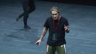 Choreagrafical performance ″All other things being equal″   Vladimir Varnava   TEDxDvortsovayaSquare
