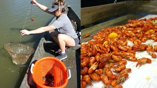 Louisiana CRAWFISH BOIL Catch+Cook!