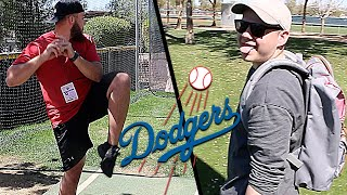 Chucking fastballs at Dodgers Spring Training with Koogs46!