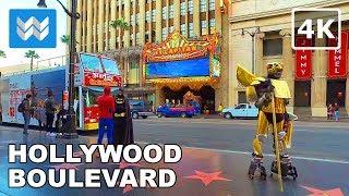 Walking around Hollywood Boulevard in Los Angeles, California 【4K】