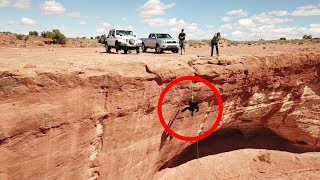 Rappelling off my Jeep Wrangler **hope I tightened all the bolts**