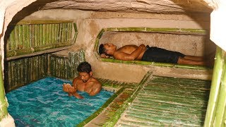 Dig Cliff to build Mini Swimming Pool in Underground Secret House