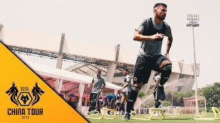 Wolves squad train in stunning Shanghai surroundings!