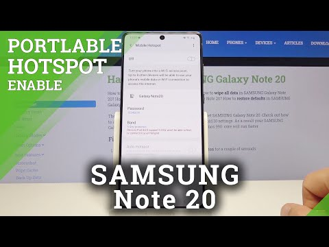 How to Enable Portable Hotspot in SAMSUNG Galaxy Note 20 – Share Internet