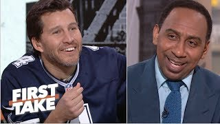 Will Cain breaks out Cowboys jersey to troll Stephen A. after win   First Take