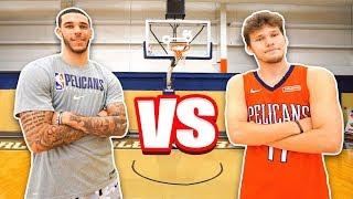 Epic NBA Basketball QnA TRICKSHOTS vs Lonzo Ball!