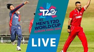 LIVE CRICKET - ICC Men's T20 World Cup Europe Final 2019 - Norway vs Denmark. Match starts 15.45 BST