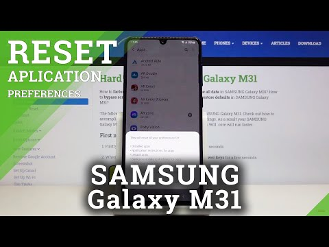 How to Reset App Preferences in SAMSUNG Galaxy M31 - Restore App Settings