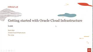 Getting Started with Oracle Cloud Infrastructure
