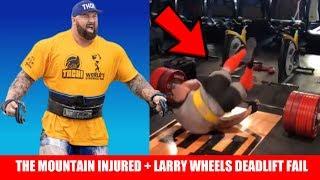 Hafthor Bjornsson INJURED at 2019 World's Strongest Man + Larry Wheels Deadlift FAIL + MORE