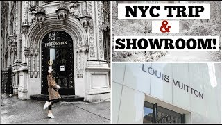 NYC trip & Louis Vuitton Showroom! | Vlogmas 10