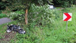 Video B 252: 24-Jähriger stirbt bei Motorradunfall