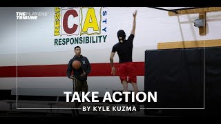 Kyle Kuzma gives back to his hometown of Flint   Take Action
