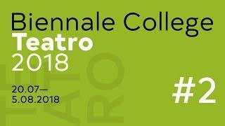 Biennale College Teatro 2018 - Maestri (2)