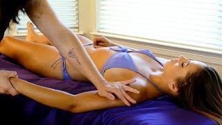 Ultra Relaxing Massage Tutorial: Front & Back of Upper Body, Soft Spoken Natanha & Nico