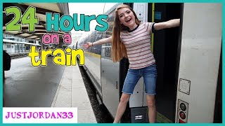 24 HOURS On A TRAiN / JustJordan33