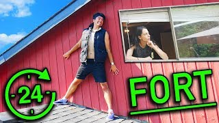 24 Hour Secret Fort in SISTERS ROOM! EPIC OVERNIGHT FORT CHALLENGE!