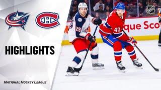 NHL Highlights | Blue Jackets @ Canadiens 11/12/19